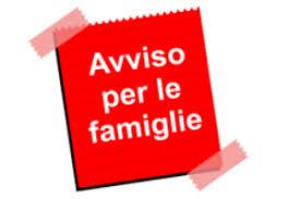 avviso per le famiglie
